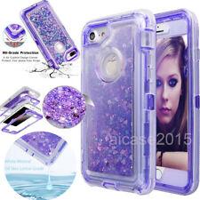 iPhone 7 8 6s Plus Glitter 3D Bling Sparkle Flowing Linquid Quicksand Case Cover