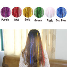 Fashion Shining Tinsel Hair Extensions Sparkle Glitter Highlight Women Hairpiece