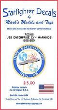 Starfighter Decals 1/700 U.S.S. ENTERPRISE AIRCRAFT CARRIER MARKINGS 1962-2001