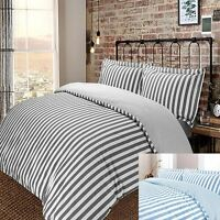 Luxury Vertical Woven Wide Stripe 200 Thread 100% Pure Cotton Duvet Cover Set