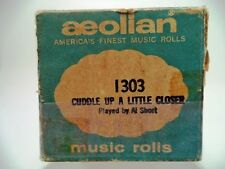 VINTAGE PLAYER PIANO ROLL AEOLIAN - 1303 CUDDLE UP A LITTLE CLOSER   e