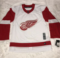 Asidas Detroit Red Wings Authentic NHL Hockey Jersey White Red Size 54 New