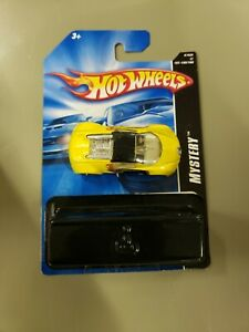 2007 Hot Wheels Mystery Car F-Racer {White With Gold Rims} Race Car LOOSE!!!