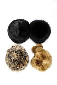 Maximilian Linda Womens Fur Hats Brown Size O/S Lot 4