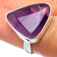 Chevron Amethyst 925 Sterling Silver Ring Size 6.75 Ana Co Jewelry R34781F