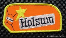"""HOLSUM BREAD EMBROIDERED SEW ON PATCH BAKERY UNIFORM ADVERTISING 4"""" x 2"""""""