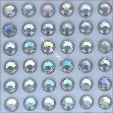 300 x 5mm Iridescent AB Clear Rhinestone Diamante Stick On Self Adhesive Gems