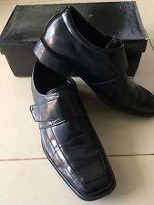 Mens boys black Dress up wedding formal groom usher Shoes size 37 = 5 FREE POST