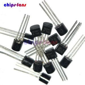 100PCS BC547 TO-92 NPN 45V 0.1A Transistor