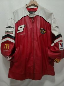 Wilson Leather RARE Kasey Kahne Jacket XXL XX-Large 2XL Red White Black Dodge