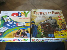 TWO Games ~ Ticket To Ride Days of Wonder & Ebay Electronic Talking Auction Game