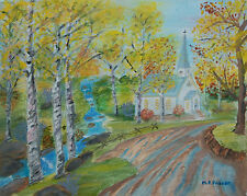 M. F. FRASER - Vintage Acrylic Painting - Signed - Canada - Late 20th Century