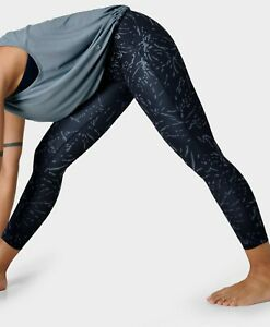 BNWT Sweaty Betty All Day Leggings 7/8 RRP £65 Blue Etch Print Small