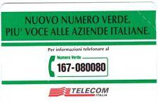 NUOVA MAGNETIZZATA GOLDEN 344 (C&C 2426) TELECOM NUMERO VERDE