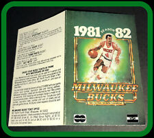 1981-82 MILWAUKEE BUCKS MASTERCARD VISA BASKETBALL POCKET SCHEDULE FREE SHIP