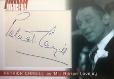 Complete Avengers Series 2 Cut Autograph Card Patrick Cargill As Adrian Lovejoy
