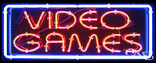 """NEW """"VIDEO GAMES"""" 32x13 W/BORDER REAL NEON SIGN w/CUSTOM OPTIONS 10646"""