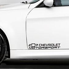 Chevrolet Aufkleber Motorsport für 2 x Tür passt Camaro Corvette Impala Epica