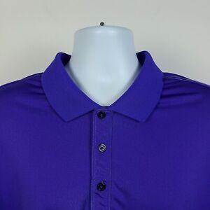 Adidas Violet Purple Mens Adult Polo Shirt Size 2XL XXL