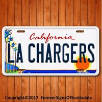 LA CHARGERS   Aluminum License Plate Tag California Los Angeles