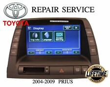 REPAIR SERVICE for TOYOTA PRIUS NAVIGATION RADIO MONITOR DISPLAY LCD 2004 - 2009