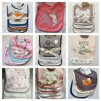 5 Pack Baby Bibs Boys, Girls Shower Gift Feeding Infant Pink Blue Teal Bib (L22)
