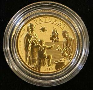 2020 Mayflower 400th Anniversary Gold Reverse Proof Coin.! Full Set.!