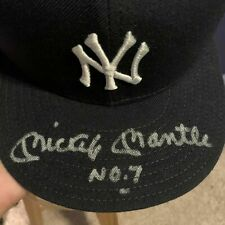 MICKEY MANTLE SIGNED AUTOGRAPH NEW YORK YANKEES HAT UDA HOLO & COA LIMITED 536