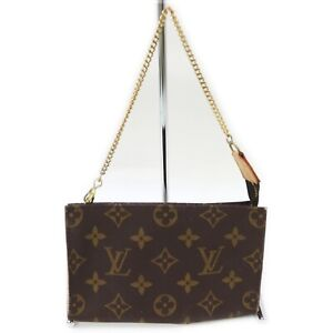 Louis Vuitton LV Cosmetic Pouch Bag Bucket pouch Browns Monogram 632500