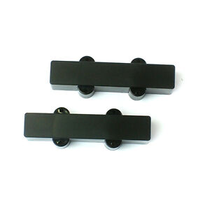 1 set of bass Guitar Pickup cover for 5 String Bridge and Neck ,Black