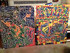 OP ART VINTAGE MOSAIC COLLAGE SIGNED BY CLAUDE PELIEU FOR VICTOR BOCKRIS