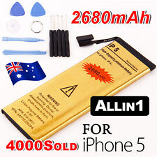 OZ J For iPhone 5 Battery Replacement High Quality Repair Tools Gold 2680 mAh