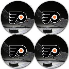 Philadelphia Flyers Hockey Rubber Round Coaster set (4 pack) / RNDRBRCSTR2081