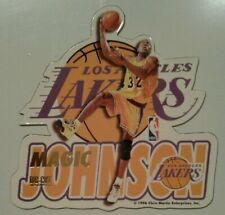 Magic Johnson Los Angeles Lakers NBA basketball die-cut Fridge Magnet NOS 1996