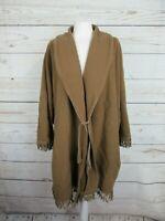 Manteau cape marron en laine vintage Morghi en très bon état, taille unique