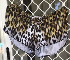 Camilla Leopard Shorts Size 1 Small $4 EXPRESS Franks Drawstring Elastic Waist