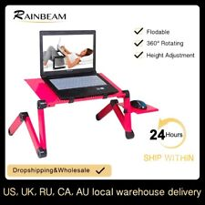 Portable Adjustable Aluminum Laptop Computer Desk Notebook Stand with Mouse Pad