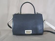 Kate Spade Black / Off White Flap Front Satchel Crossbody Shoulder Bag Purse