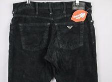 VINTAGE Mens ARMANI Jeans STRAIGHT Zip Fly SOFT MOLESKIN Rare W36 L32  P21