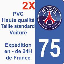 Sticker Autocollant immatriculation Département 75 Paris Saint Germain PSG Foot