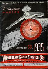 Super Rare Vintage 1935 Lafayette Radio Catalog Tubes Amps Mics & More