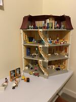 Massive 4 Storey Playmobil Mansion House With Furniture And Characters