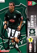 Plymouth Argyle F.C  Gary Sawyer Hand Signed Championship 2008 Panini Card.
