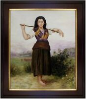 Framed Hand Painted Oil Painting Repro Bouguereau, The Shepherdess 20x24in