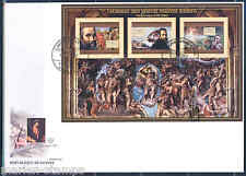GUINEA 2012 PAINTINGS BY THE ITALIAN MASTERS MICHELANGELO SHEET FDC