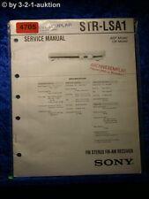 Sony Service Manual STR LSA1 FM/AM Receiver  (#4705)