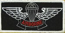 AIRBORNE WINGS Patch with VELCRO brand fastener Military Red AIRBORNE #2