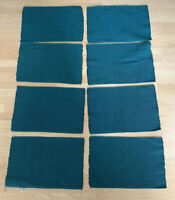 Vintage Crate & Barrel Deep Turquoise Hunter Green Placemats Set Of 8