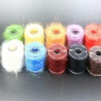 10colors Bobbin Tinsel Chenille Line Crystal Flash Line Fly Tying Material