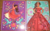2 New DISNEY Elena of Avalor 1 Spiral Subject Notebooks [70 Ruled Sheets Each]